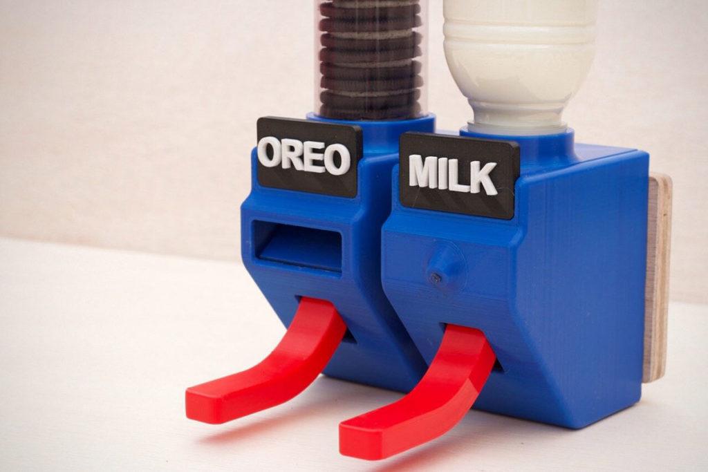 DIY Hands-free Oreo and Milk Dispenser