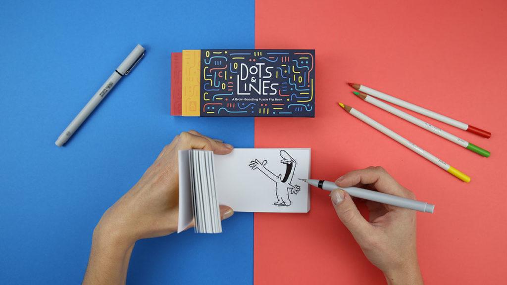 Flipboku Dots & Lines Puzzle Flip Book