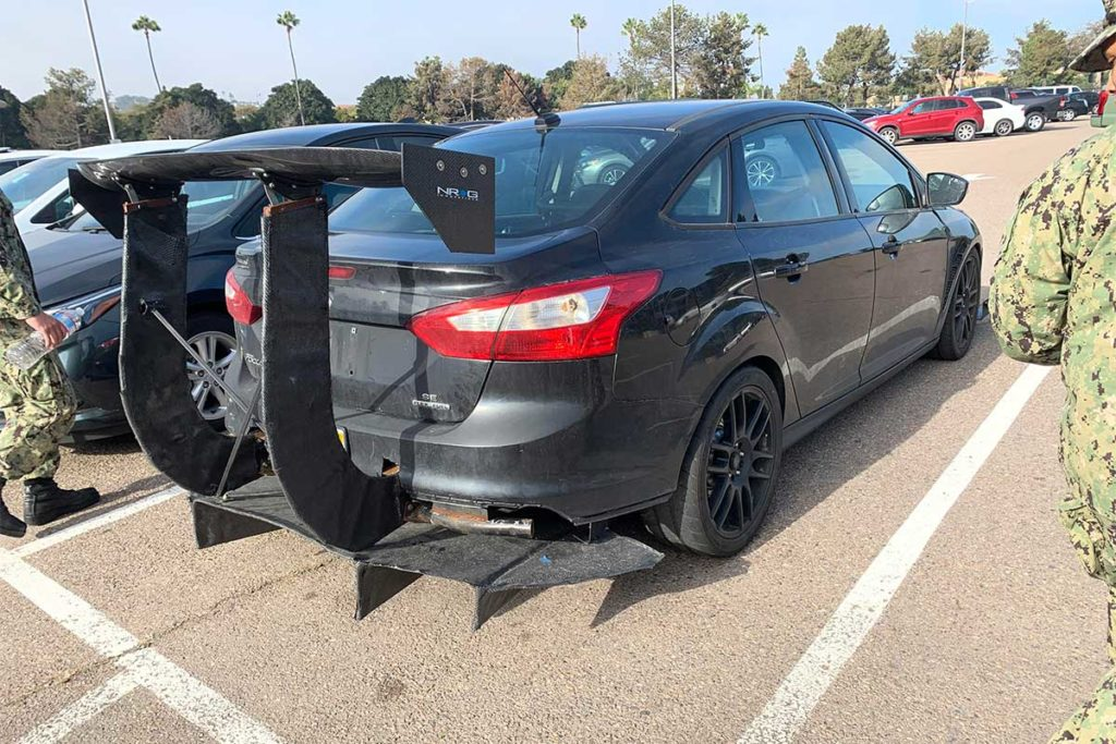 Ford Focus Spotted With Massive Spoiler