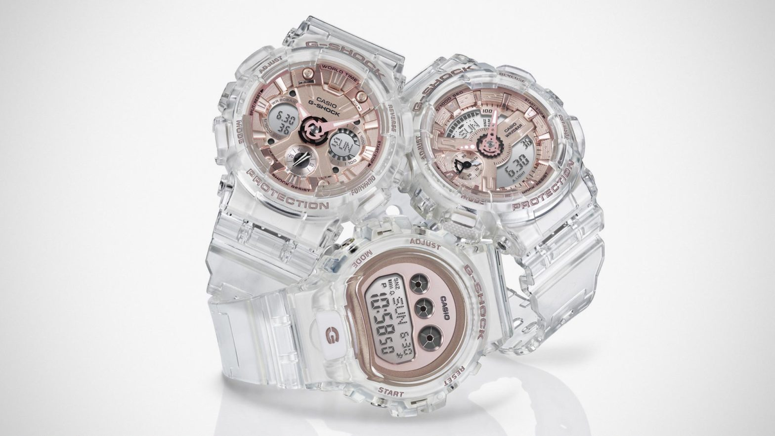 G-Shock Transparent x Rose Gold Series