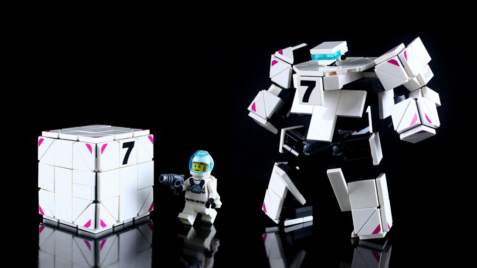 LEGO Cube Transforms Into a Robot