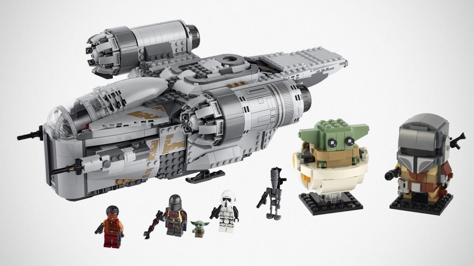 LEGO The Mandalorian BrickHeadz and The Razor Crest