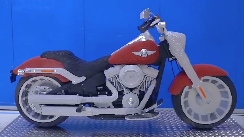 Life-size LEGO Harley-Davidson Fat Boy
