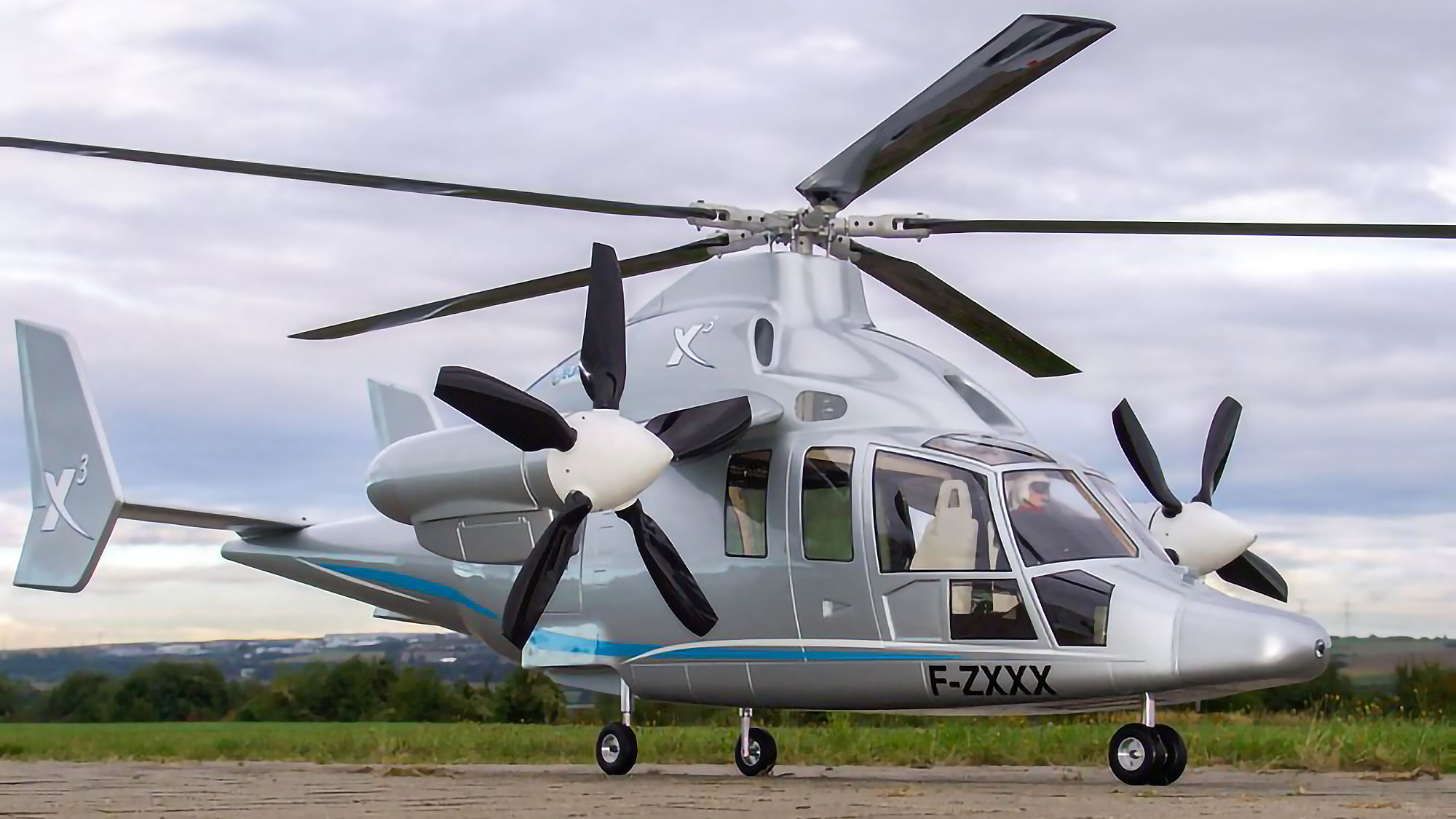 Rc Scale Model Version Of The Eurocopter X3 Is Hybrid Of