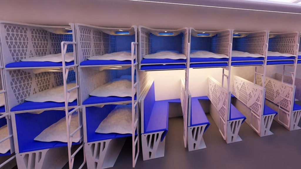 TUDelft Lie-flat Sleeping Solution Economy Class