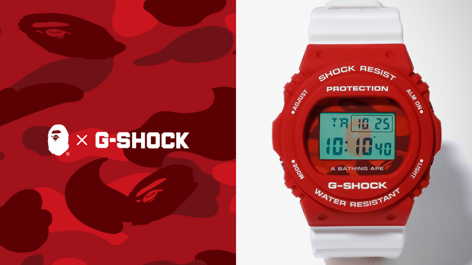 A Bathing Ape x G-Shock DW-5750 Watch