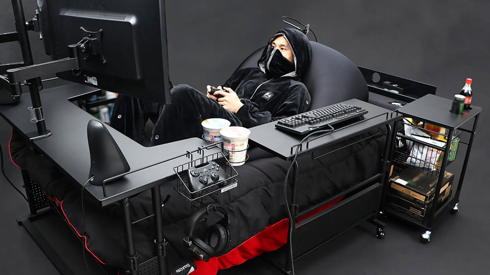 Bauhütte Gaming Bed Concept Setup