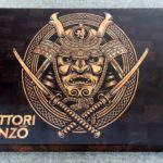 You Will Not Bear To Put A Knife On This Amazing Custom Hattori Hanzo Cutting Board