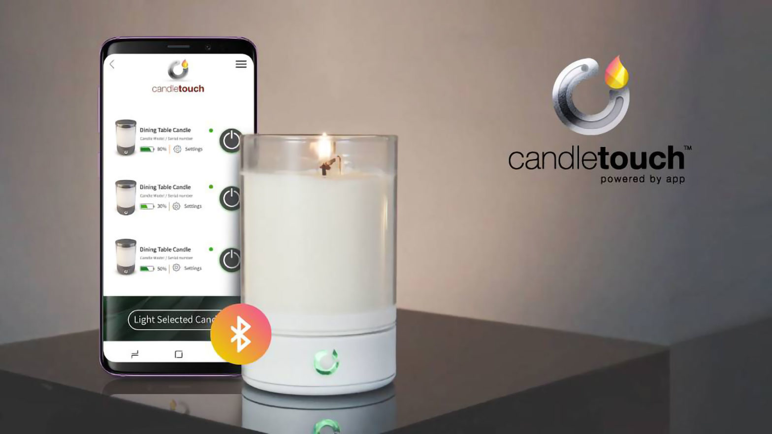 Candle Touch Smart Real-flame Candle