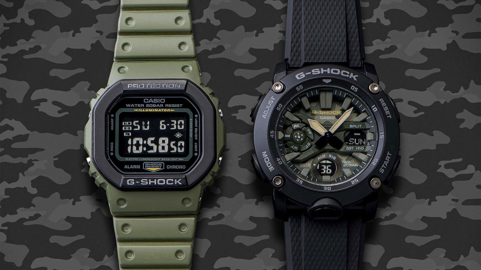 Casio G-Shock Street Utility Military Models