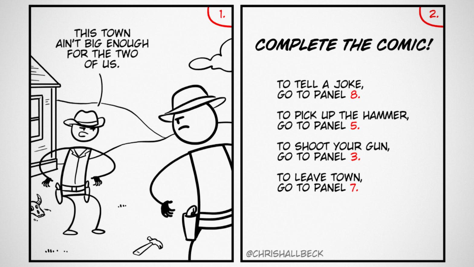 Choose Your Own Adventure Webcomic Maximumble