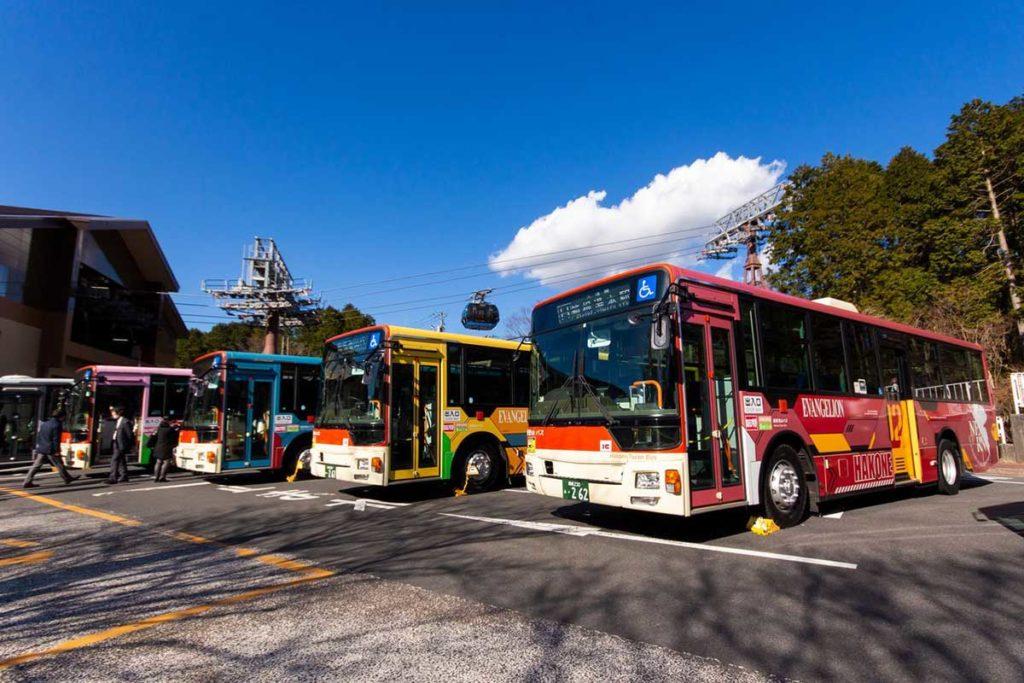 City of Hakone Evangelion Tokyo-3 Buses