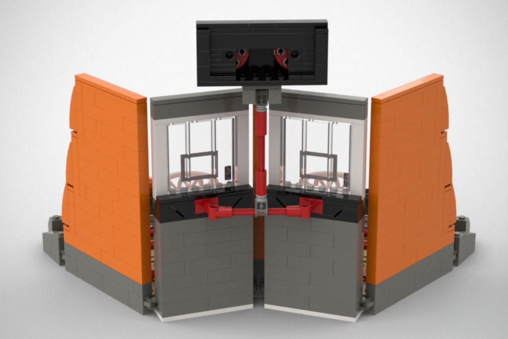 Custom LEGO 2-Player Table Basketball Set
