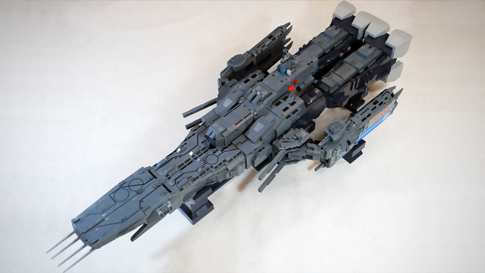 Custom LEGO Macross SDF-1 Fortress Spaceship