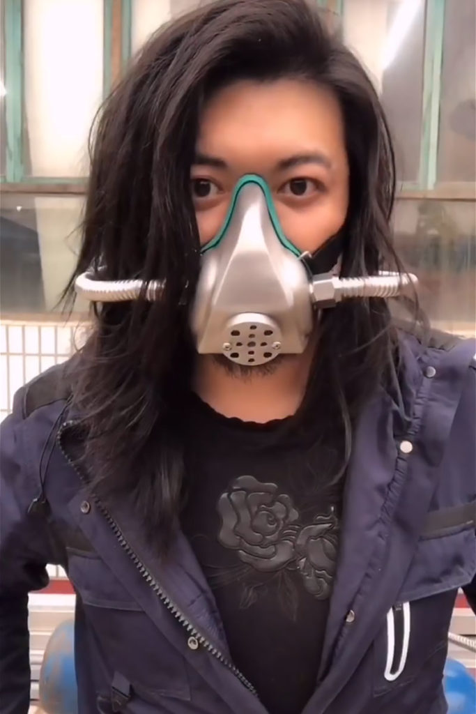 DIY Oxygen Breathing Stainless Steel Mask