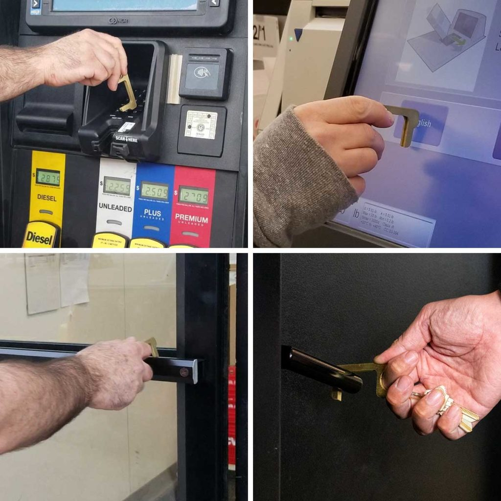 Hygiene Hand Antimicrobial Brass EDC Door Opener & Stylus