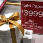 Buy A Single Roll Of Toilet Paper For $3,999 And Get A Free One-Carat Diamond Ring
