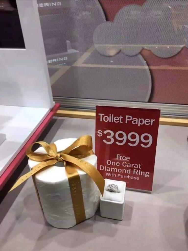 Jared Jewelers Las Vegas $4000 Toilet Paper