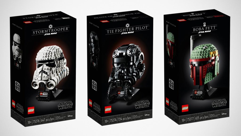 LEGO Star Wars Buildable Model Helmets
