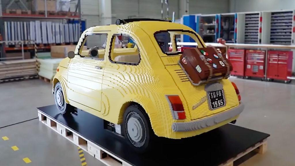 Life-size LEGO Fiat 500