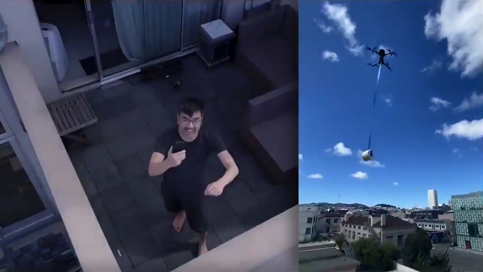 Man Delivered Toilet Paper To Friend With A Drone