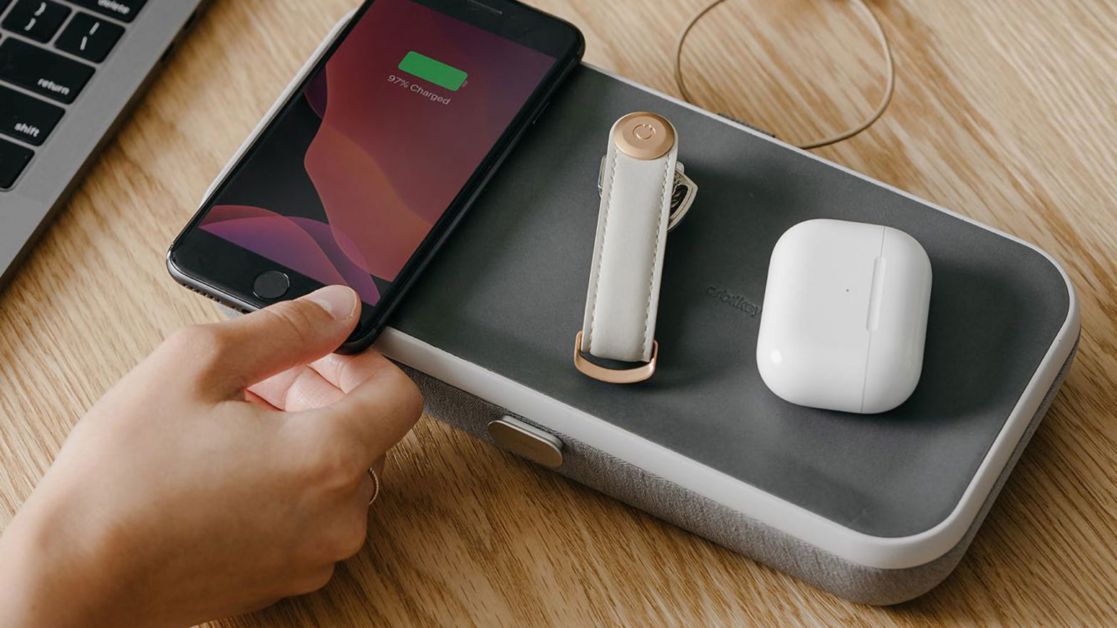 Orbitkey Nest Wireless Charging Desk Tidy