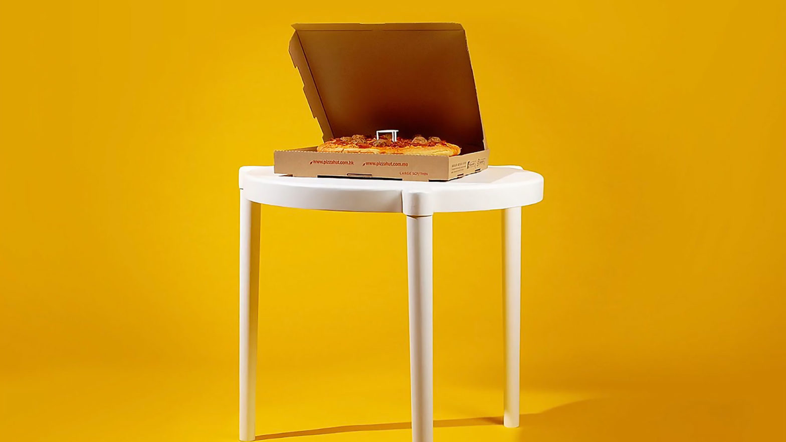 Pizza Hut x IKEA Table And Pizza