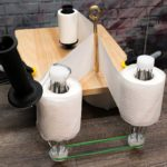 DIY Toilet Paper Splitting Machine Turns A Roll Of 2-Ply Toilet Paper Into 2 Rolls Of 1-Ply Toilet Papers