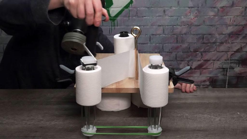 Toilet Paper Splitting Machine by Household Hacker