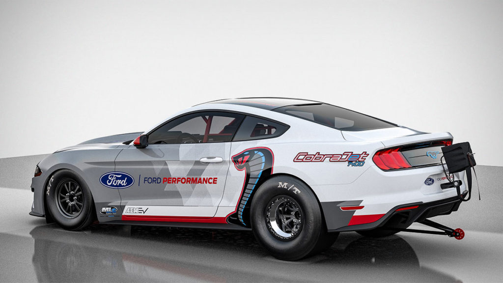 All-electric Ford Mustang Cobra Jet 1400 Dragster