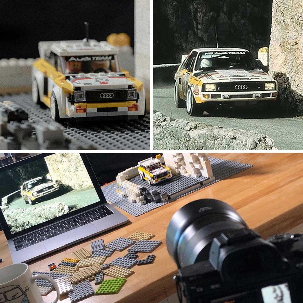Audi Quattro Rally Car Photos Recreated in LEGO
