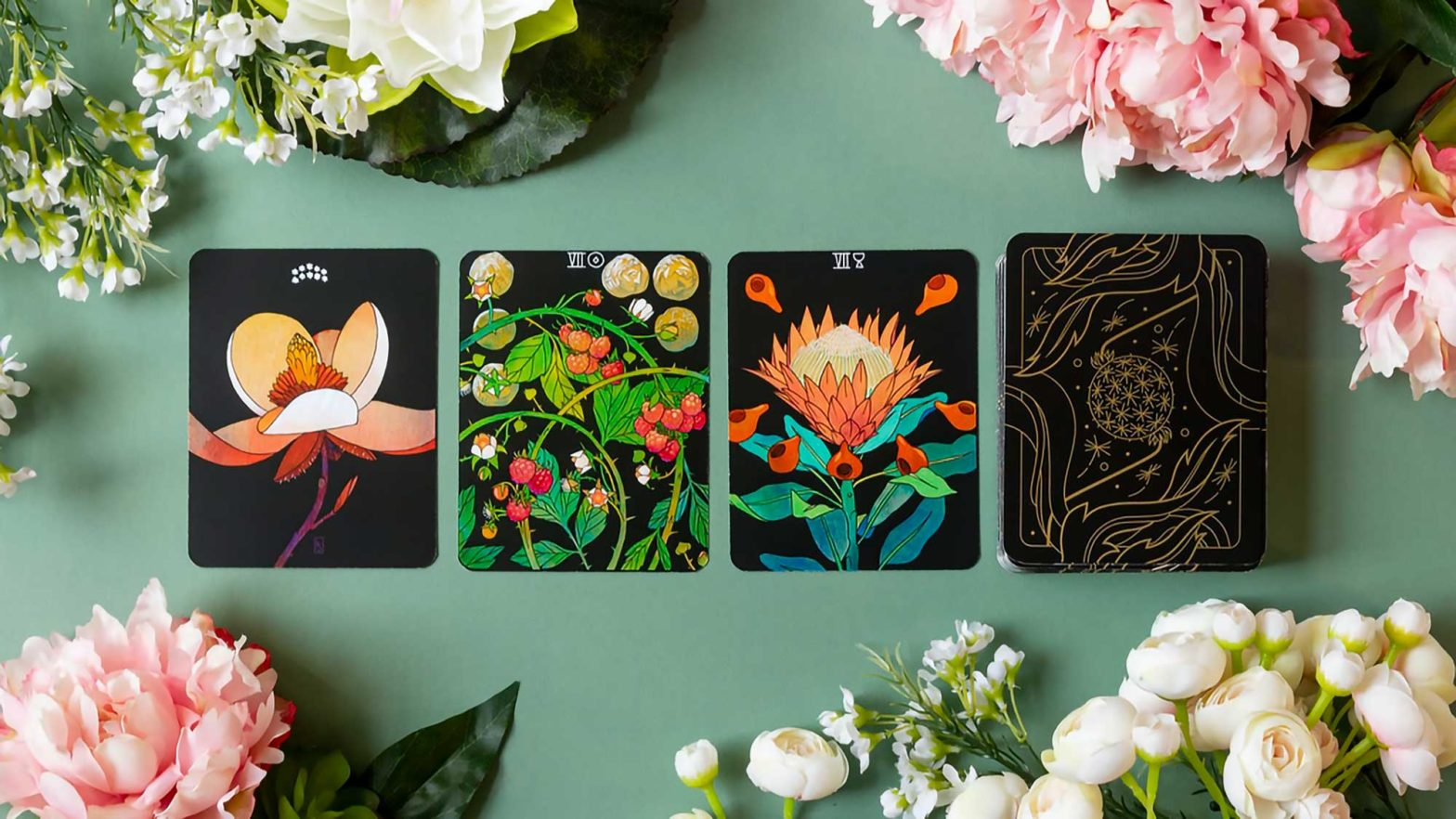 Botanica Flower-themed Tarot Cards