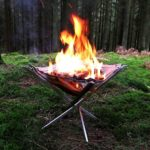 Meet Firekorf, A New Kind Of Firepit That's Super Portable And Lets You BBQ Too
