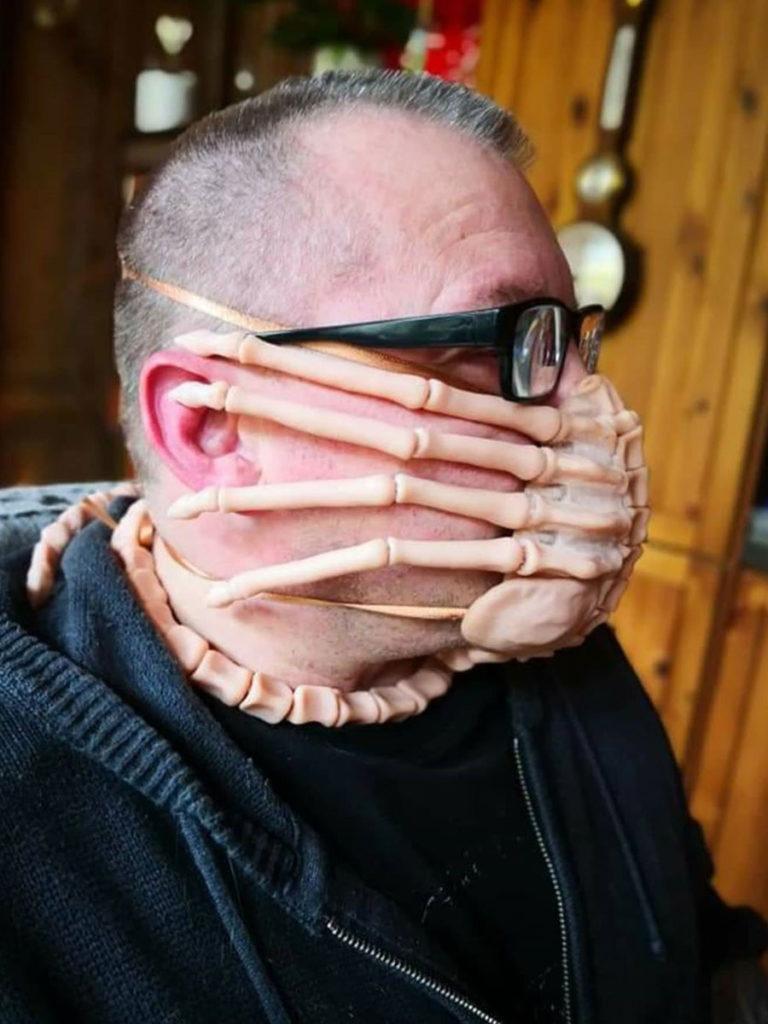 DIY Alien Facehugger Face Mask by Jeff Barnaby
