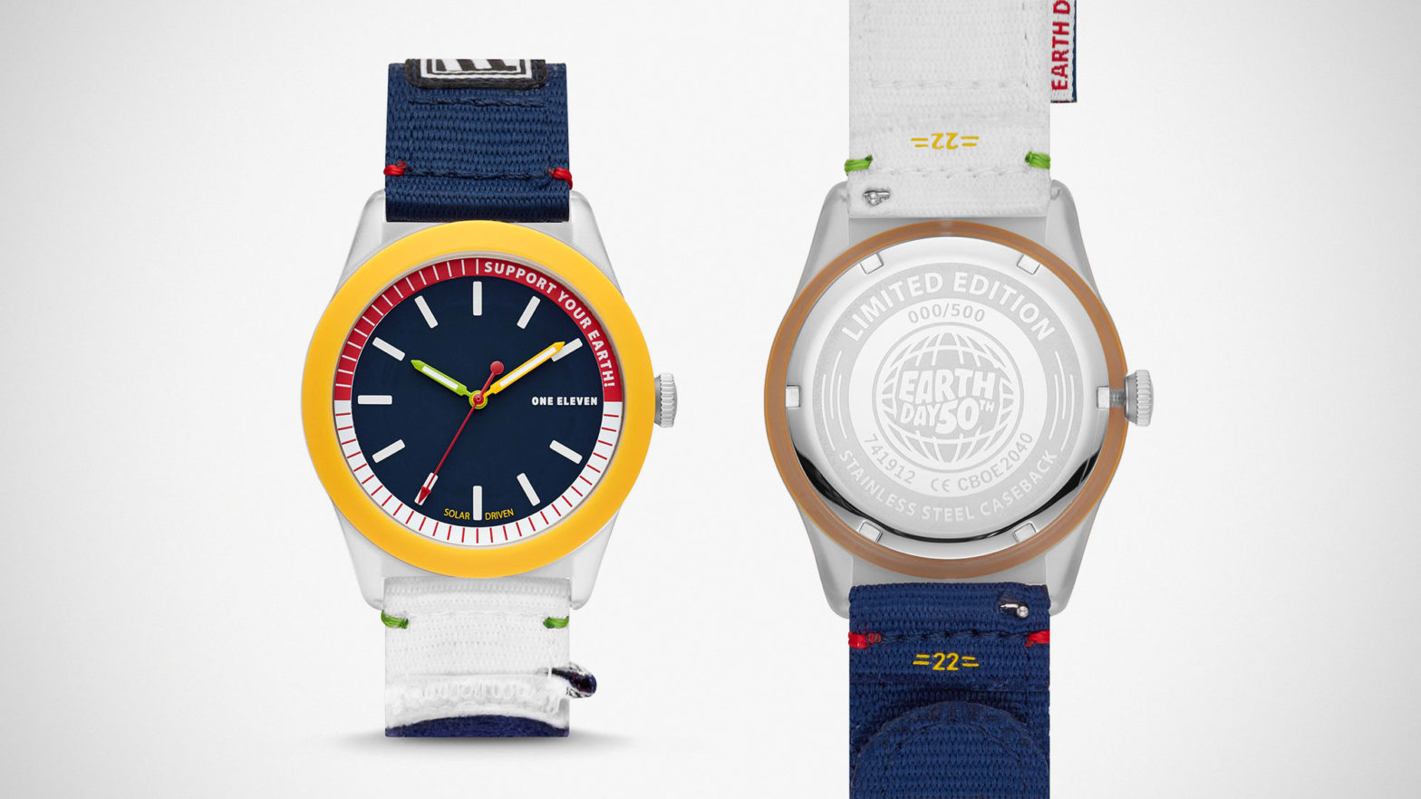Earth Day Solar Powered SWII Wrist Watch