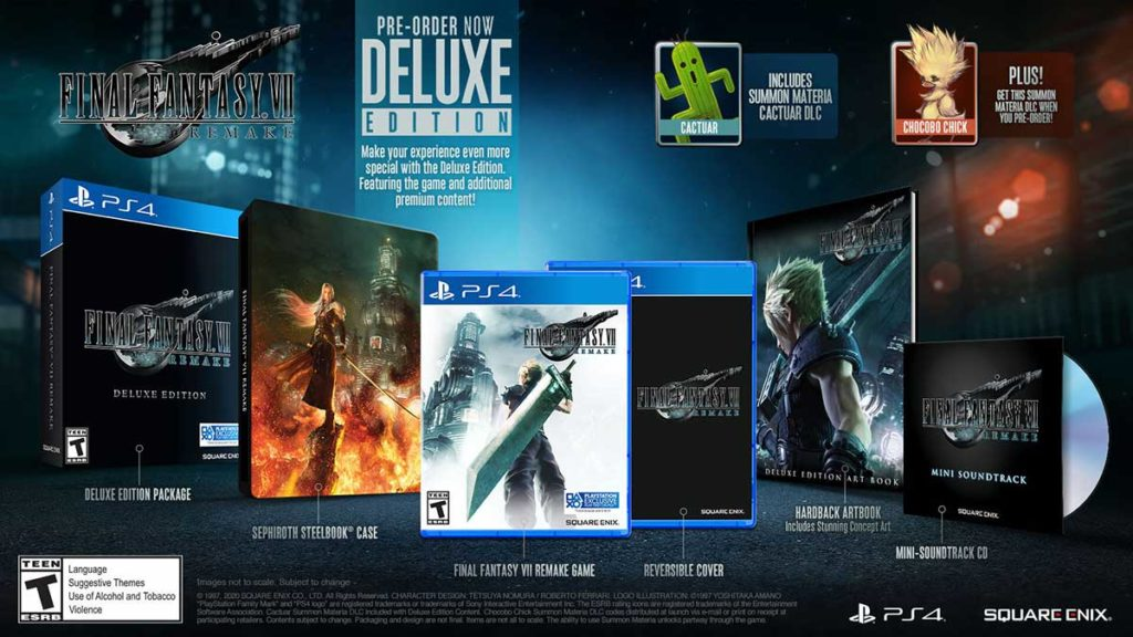 Final Fantasy VII Remake Video Game Deluxe Edition