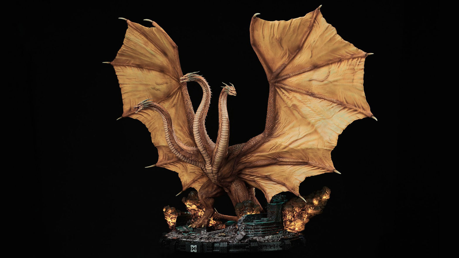 Godzilla King of the Monsters King Ghidorah Statue by Spiral Studio