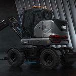 Hidromek HICON 7 W Electric Wheel Excavator: 100% Electric Excavator For Use In Cities