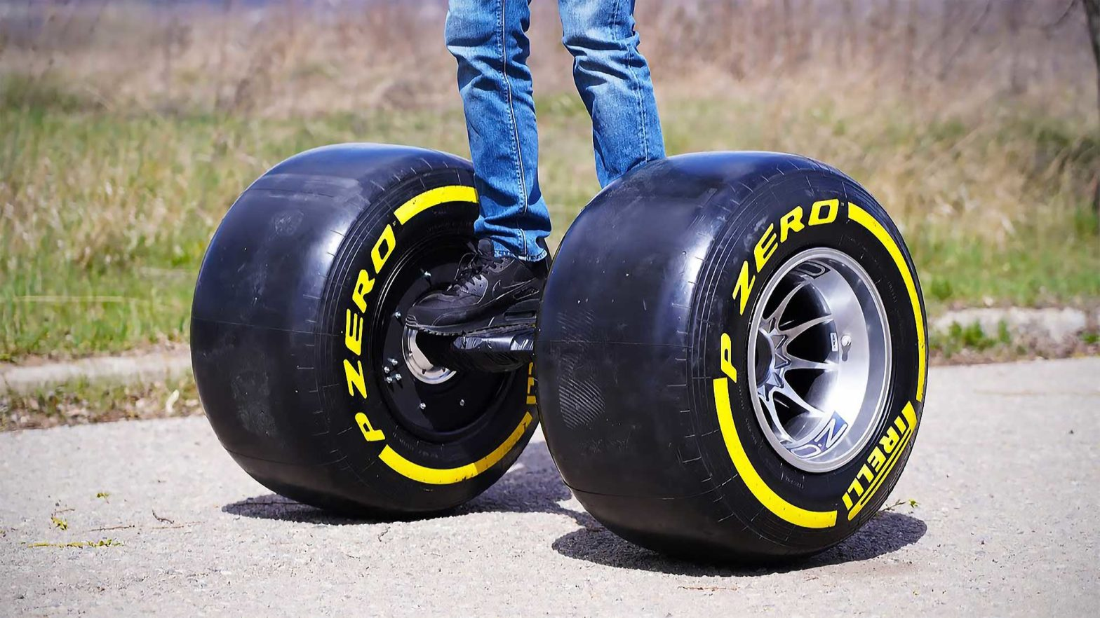Hoverboard with Formula 1 Wheels by The Q