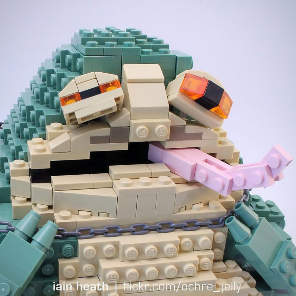 Leia the Huttslayer LEGO Sculpture by Iain Heath