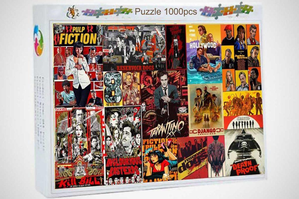 Logicpuz Tarantino Movie Collage Wooden Puzzle