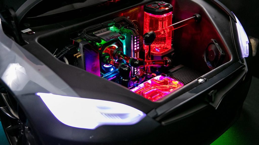 Ludicrous PC Tesla Kiddie Ride Gaming PC