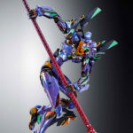 New Metal Build <em>Evangelion</em> Unit-01 Test Type Comes With 15″ Long Spear Of Longinus