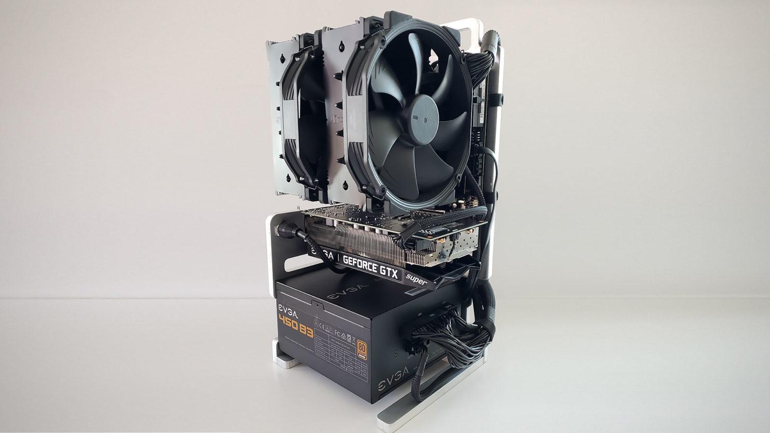 Open Frame Mini ITX PC by Honus