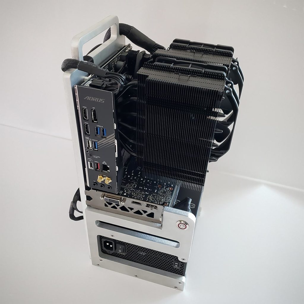 Open Frame Mini ITX PC by Honus