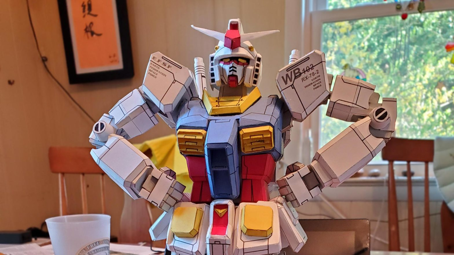 Paper-built Gundam Model by Ghakazian
