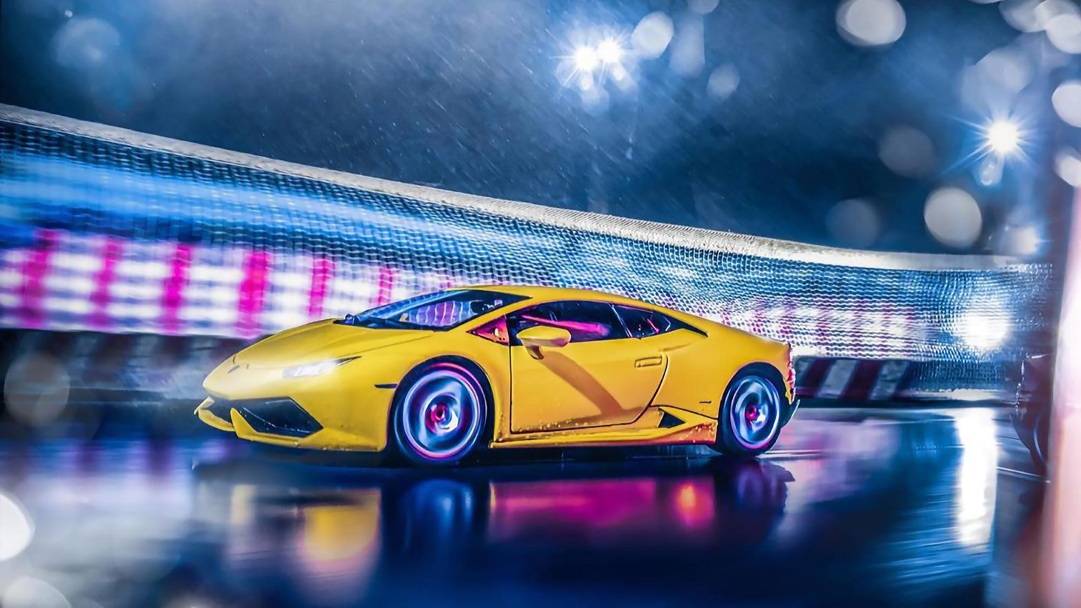 Realistic Photos of Fake Speeding Lamborghini