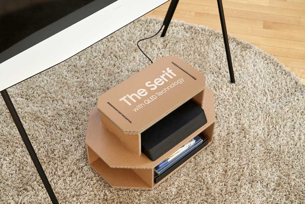 Samsung Eco-packaging for Lifestyle TV