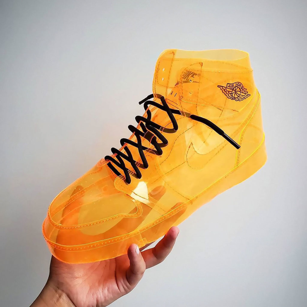 See-through Orange Air Jelly Jordan Sneakers