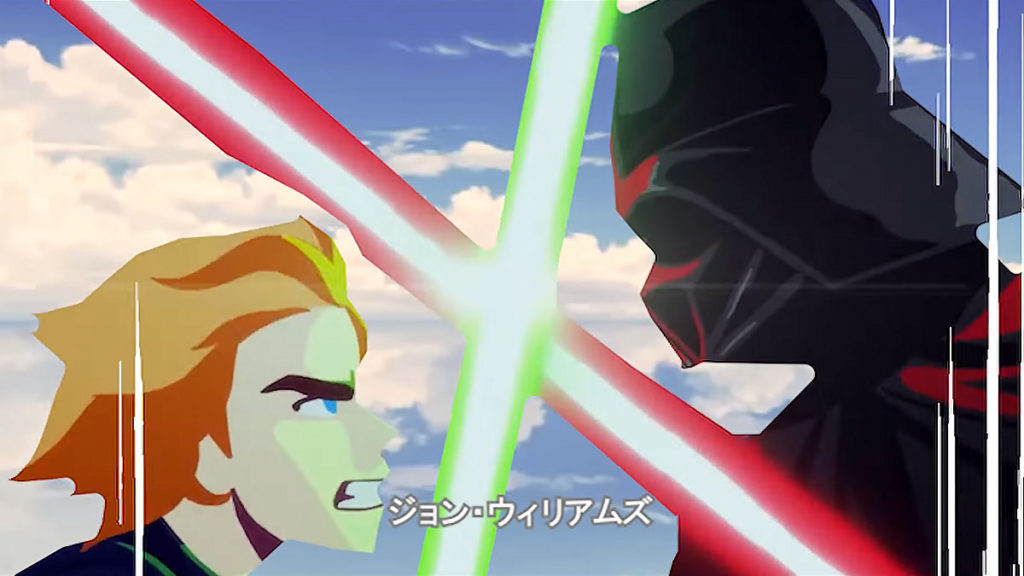 Star Wars Cartoon Re-edited Into Anime